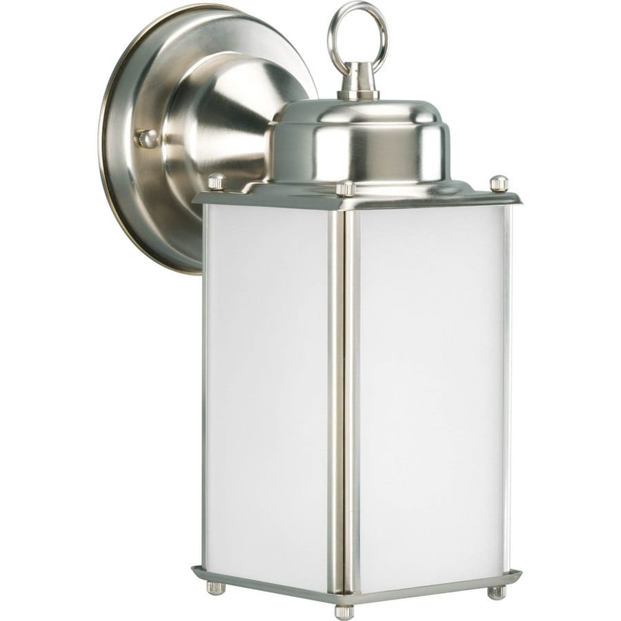 Progress Lighting Roman Coach 10-in H Brushed Nickel Outdoor Wall Light ENERGY STAR