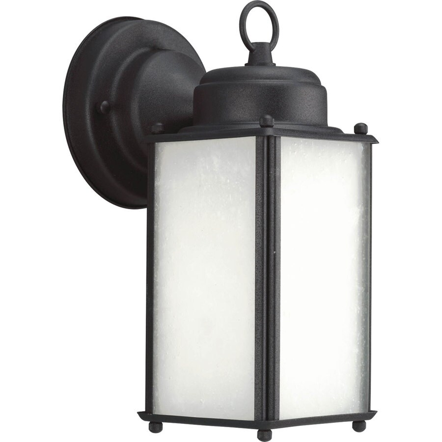 Progress Lighting Roman Coach 10-in H Black Outdoor Wall Light ENERGY STAR