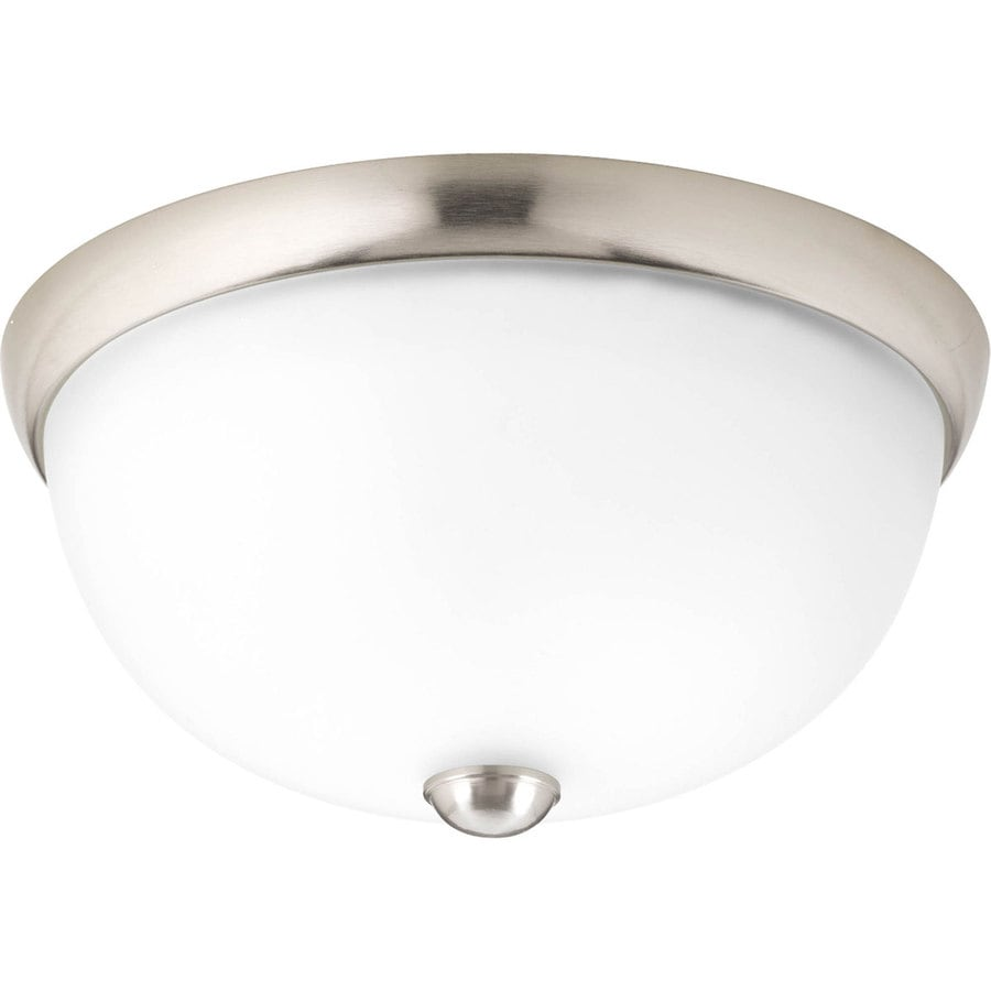 Progress Lighting Random 11-in W Brushed Nickel  Standard Flush Mount Light ENERGY STAR