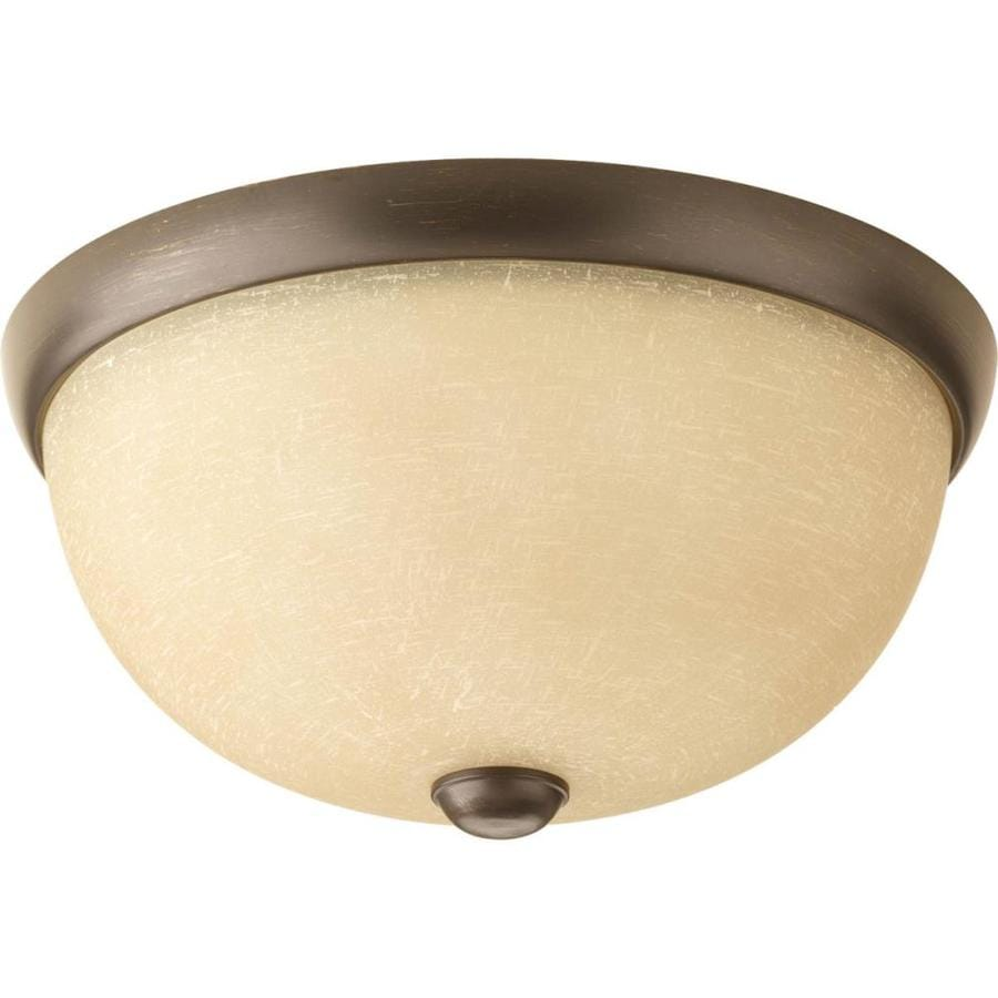 Progress Lighting Random 11-in W Antique bronze Flush Mount Light ENERGY STAR