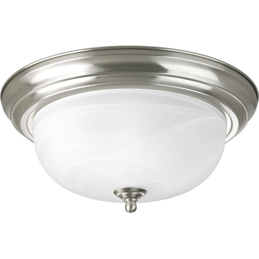 Progress Lighting Melon 13.25-in W Brushed nickel Flush Mount Light