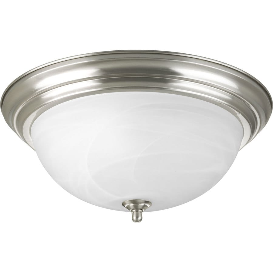 Progress Lighting Melon 15.25-in W Brushed Nickel Flush Mount Light