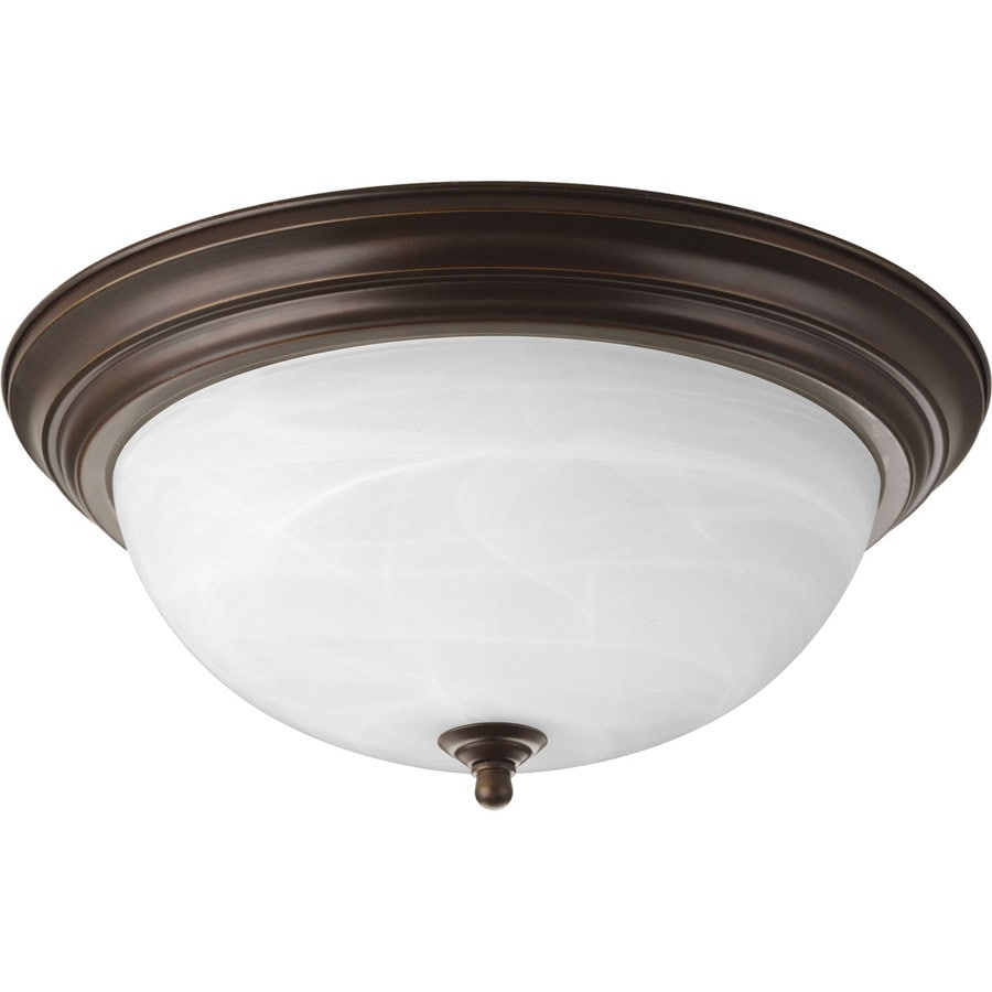 Progress Lighting Melon 15.25-in W Antique Bronze Ceiling Flush Mount Light