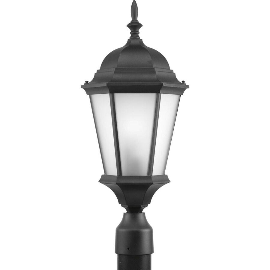 Progress Lighting Welbourne 21.25-in H Black Post Light