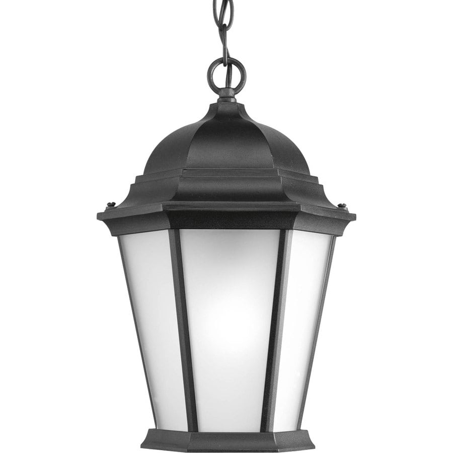 Hanging Light Fixtures At Lowes: Shop Progress Lighting Welbourne Black Outdoor Pendant