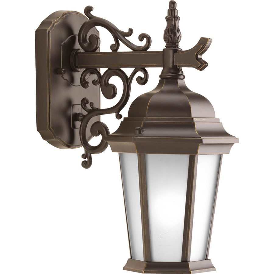 Progress Lighting Welbourne 9.8-in H Antique Bronze Outdoor Wall Light