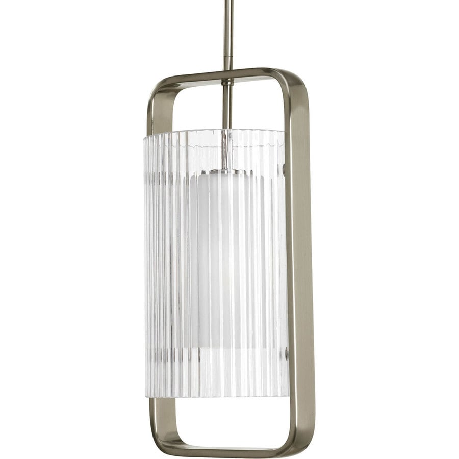 Progress Lighting Coupe 18.75-in Brushed Nickel Outdoor Pendant Light