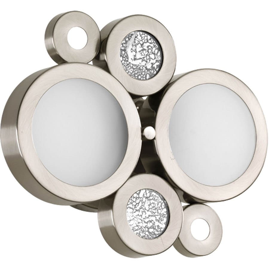 Progress Lighting Bingo 2-Light Brushed Nickel Vanity Light