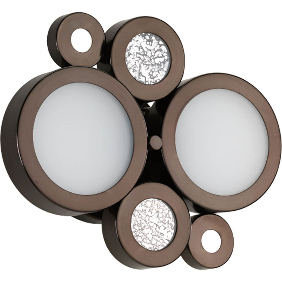 Progress Lighting Bingo 2-Light 9-in Venetian Bronze Vanity Light