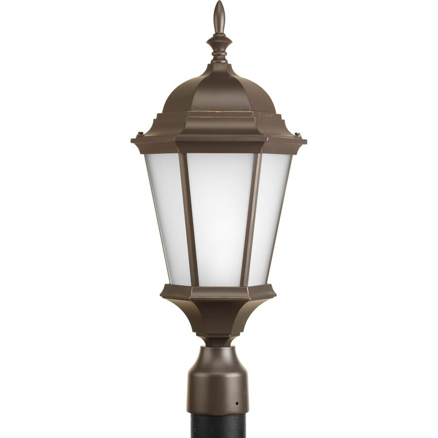 Progress Lighting Welbourne 21.25-in H Antique Bronze Post Light