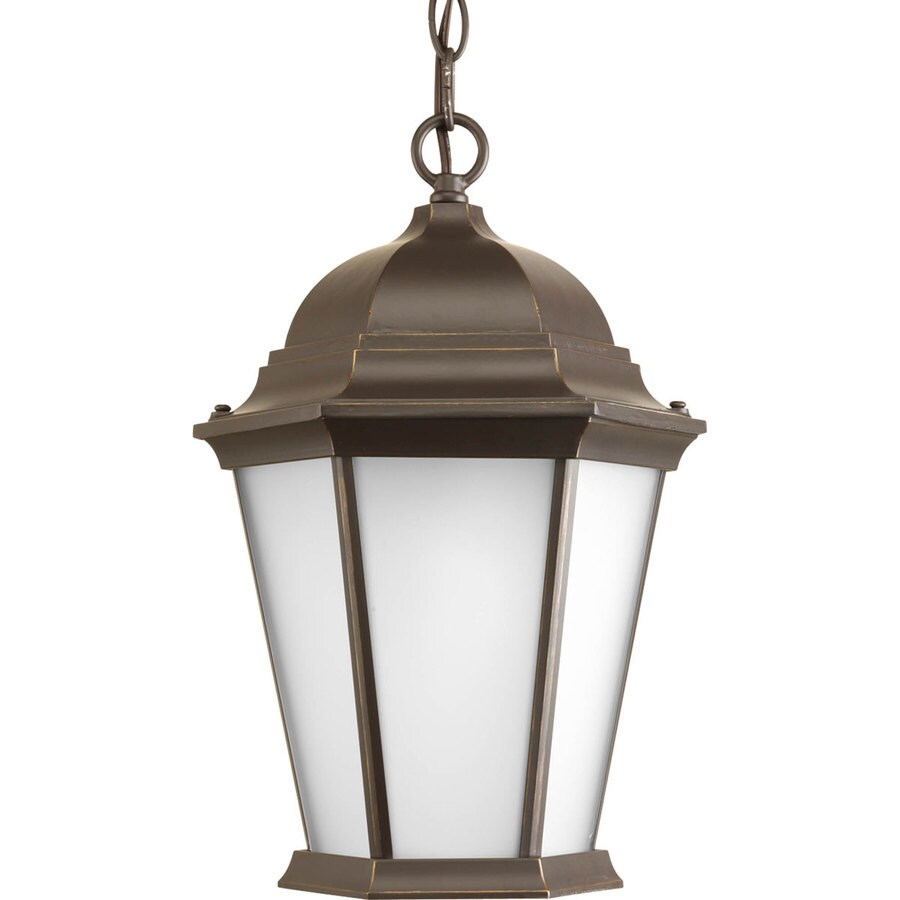Progress Lighting Welbourne 15-in Antique Bronze Outdoor Pendant Light