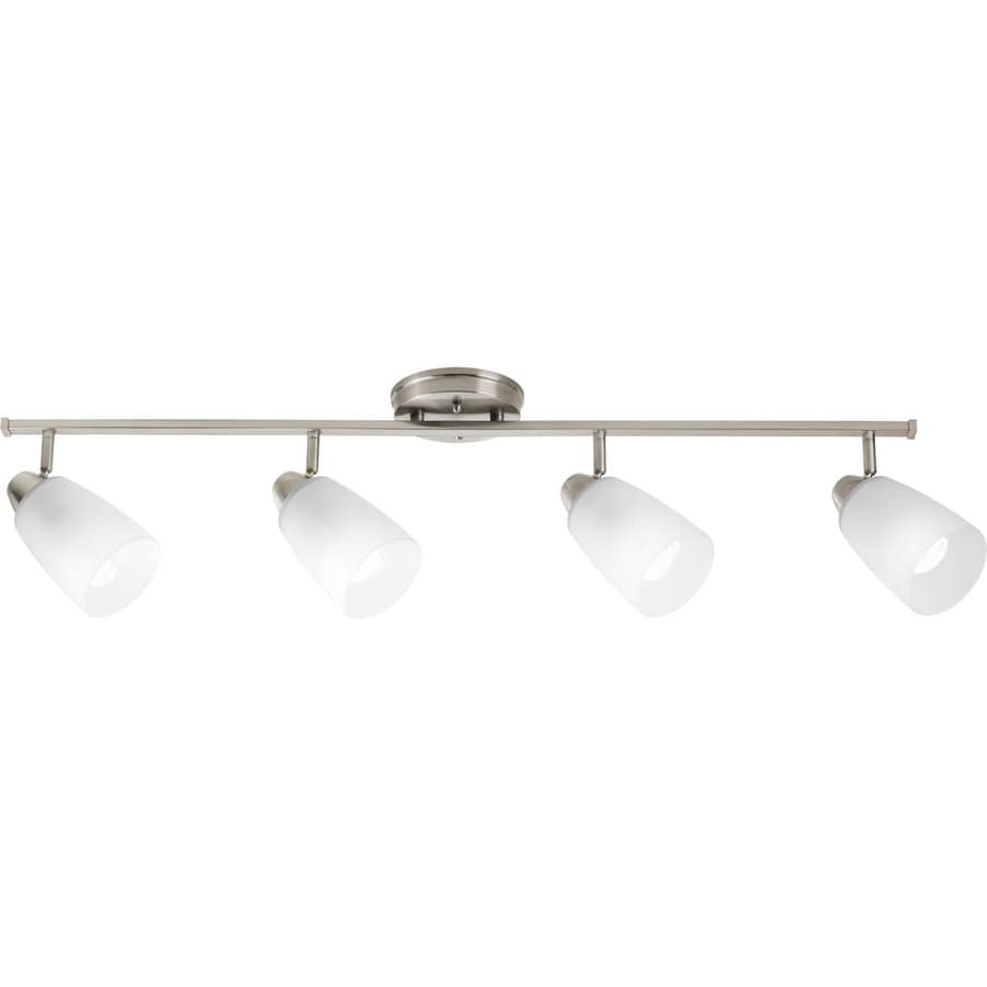 Progress Lighting Wisten 4-Light 36.125-in Brushed Nickel Fixed Track Light Kit