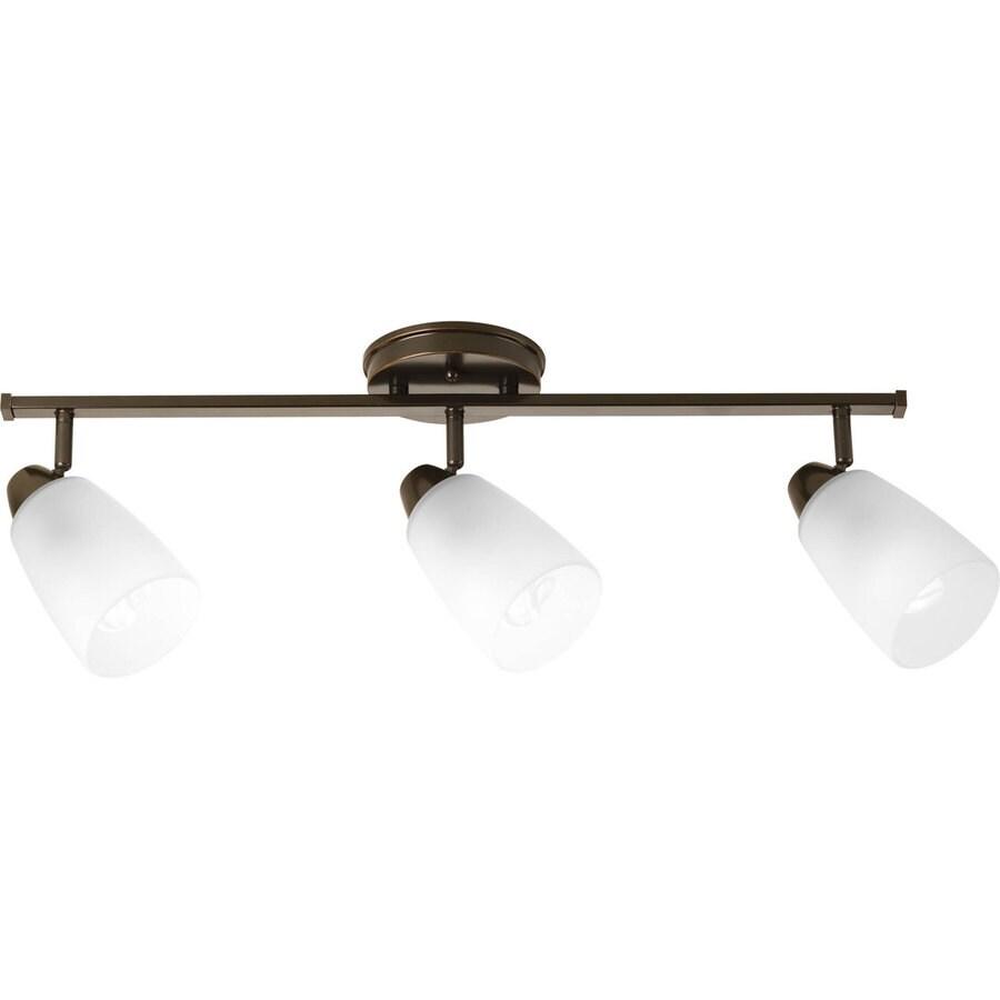 Factor 3 Light Track Fixture: Shop Progress Lighting Wisten 3-Light 29.39-in Antique