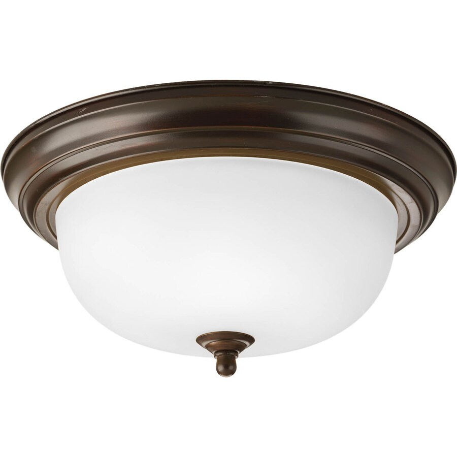 Progress Lighting Melon 13.25-in W Antique Bronze Flush Mount Light