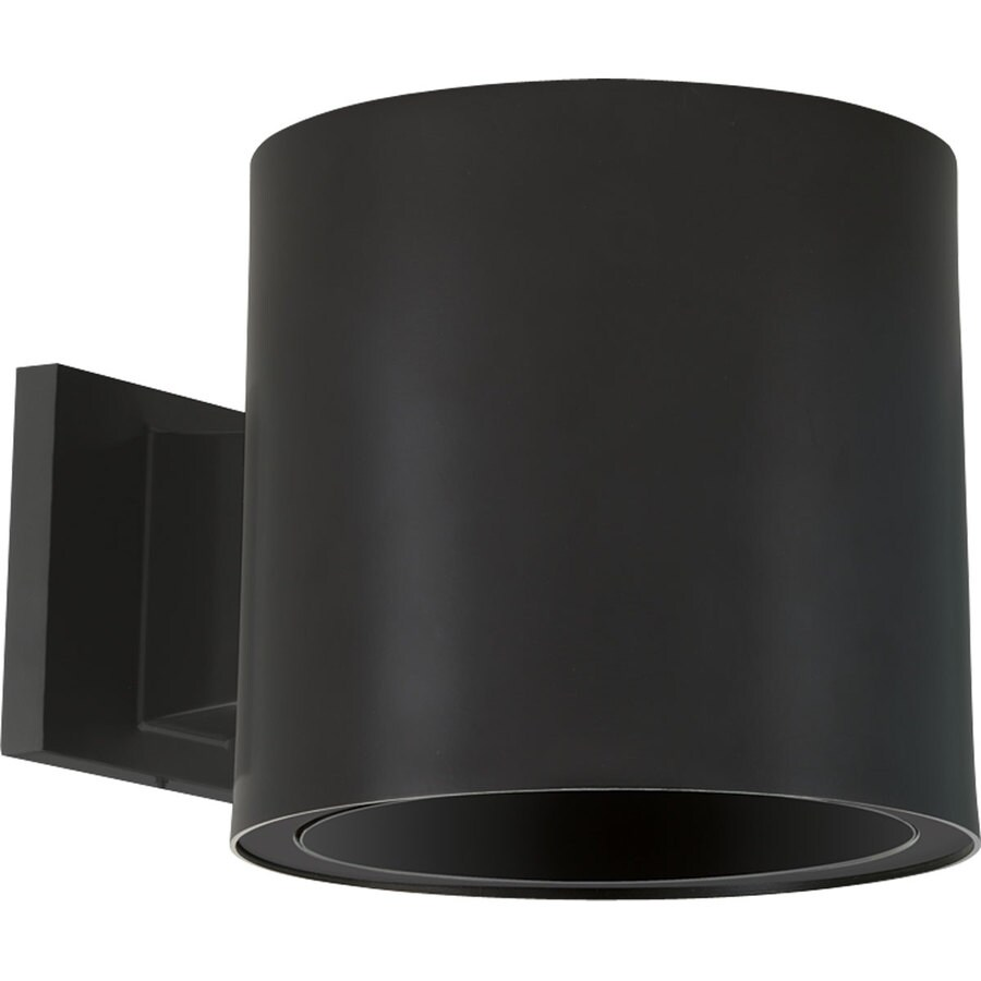 Led Wall Sconces Lowes : Shop Progress Lighting 7.37-in H Black LED Outdoor Wall Light at Lowes.com