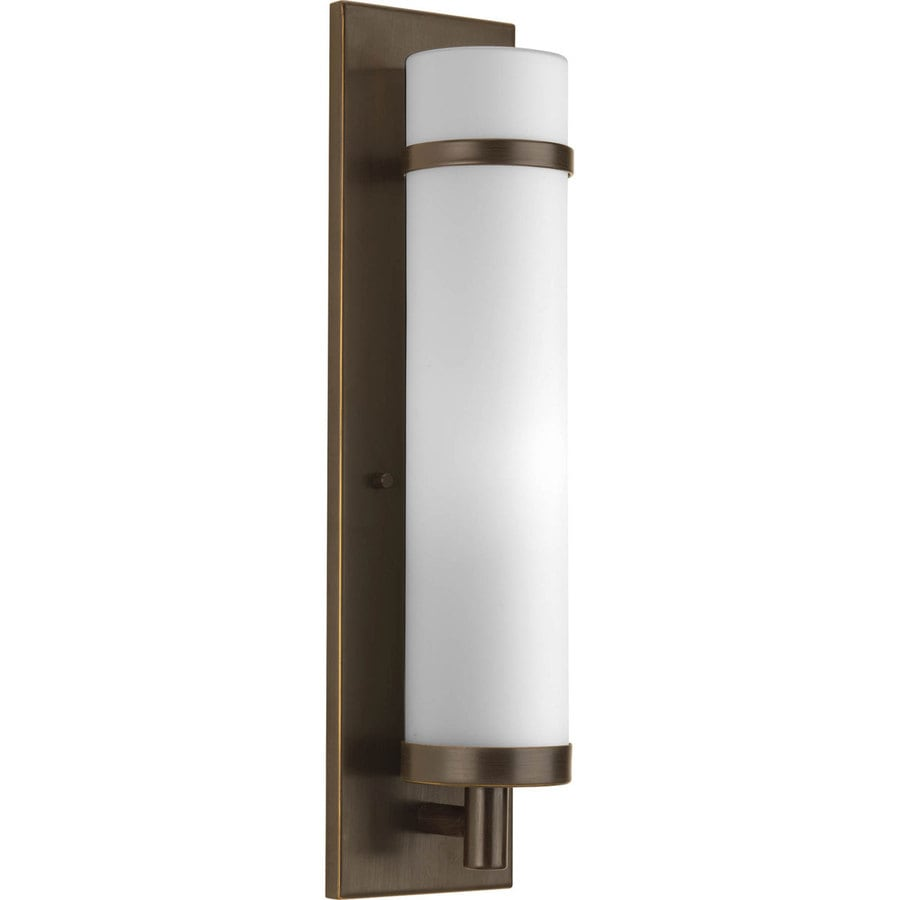 Progress Lighting 5-in W 1-Light Antique bronze Pocket Wall Sconce