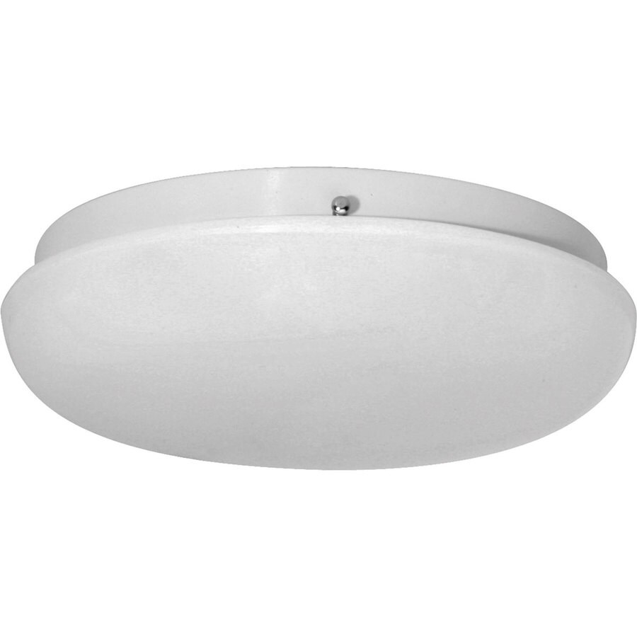 Progress Lighting Roman Coach Cfl 10.875-in W White Ceiling Flush Mount Light
