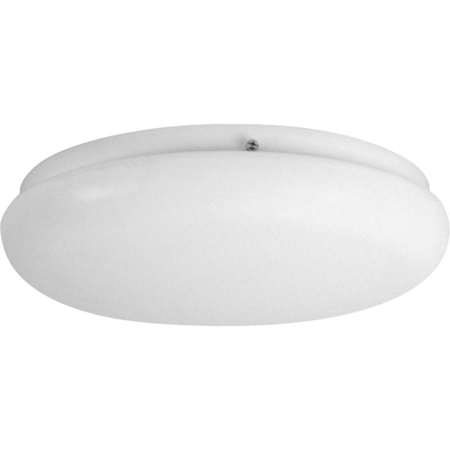 Progress Lighting Roman Coach Cfl 14-in W White Ceiling Flush Mount Light
