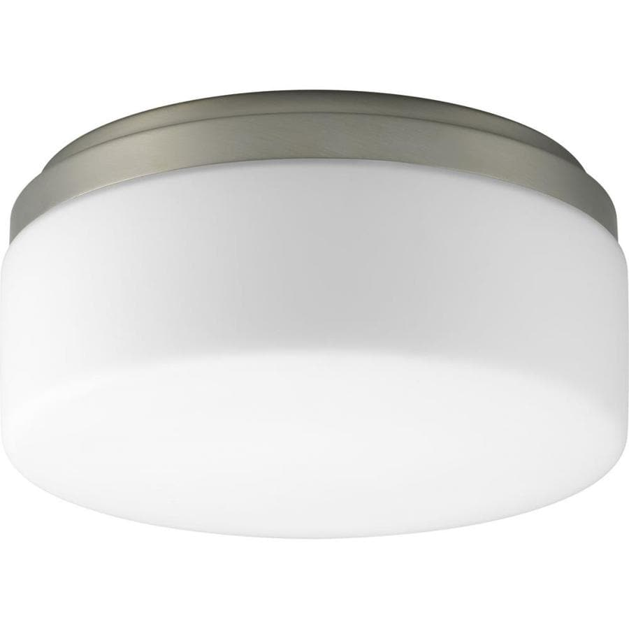Progress Lighting Maier 9-in W Brushed Nickel Standard Flush Mount Light