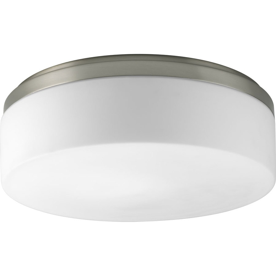 Progress Lighting Maier 14-in W Brushed Nickel Standard Flush Mount Light