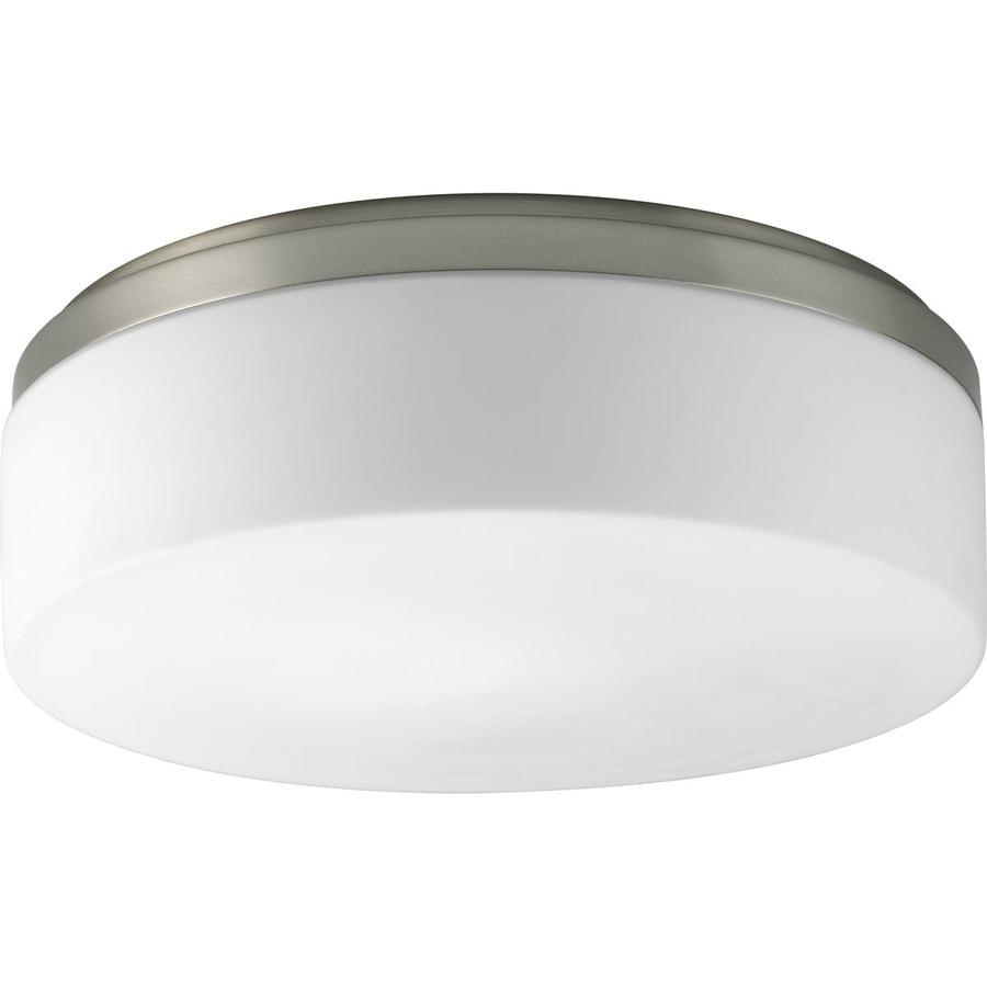 Progress Lighting Maier 14-in W Brushed Nickel Flush Mount Light