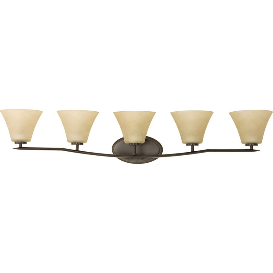 Progress Lighting Bravo 5-Light Antique Bronze Bell Vanity Light