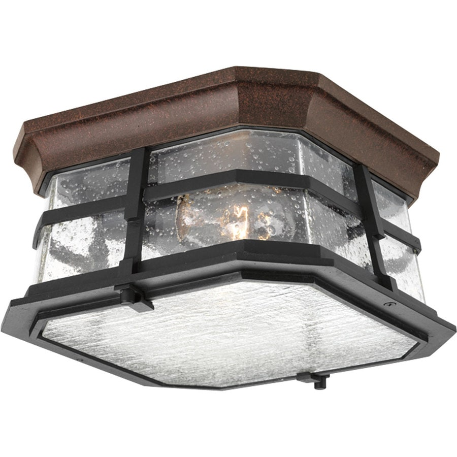 Shop Progress Lighting Derby 10 In W Espresso Outdoor Flush Mount Light At
