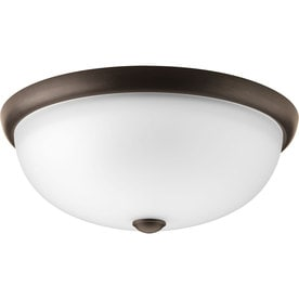 Shop flush mount fluorescent lights at lowes progress lighting random frosted glass flush mount fluorescent light energy star common 15 aloadofball Gallery