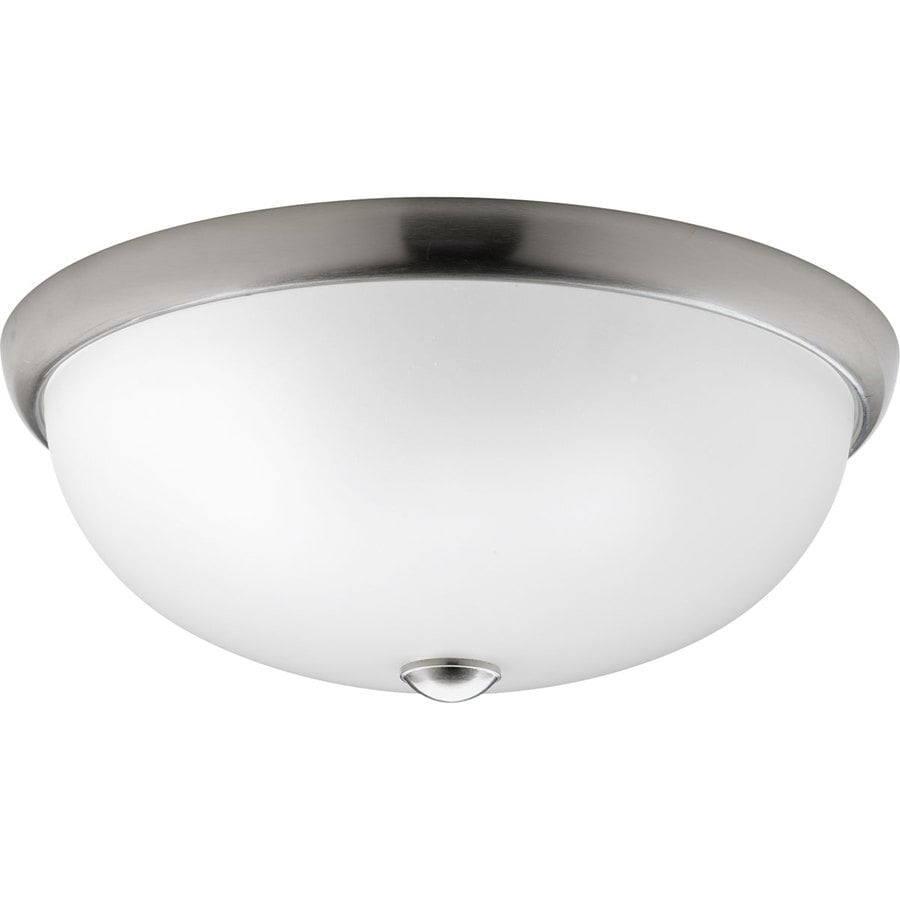 Progress Lighting Random Frosted Glass Flush Mount Fluorescent Light ENERGY STAR (Common: 1.5-ft; Actual: 16.5-in)