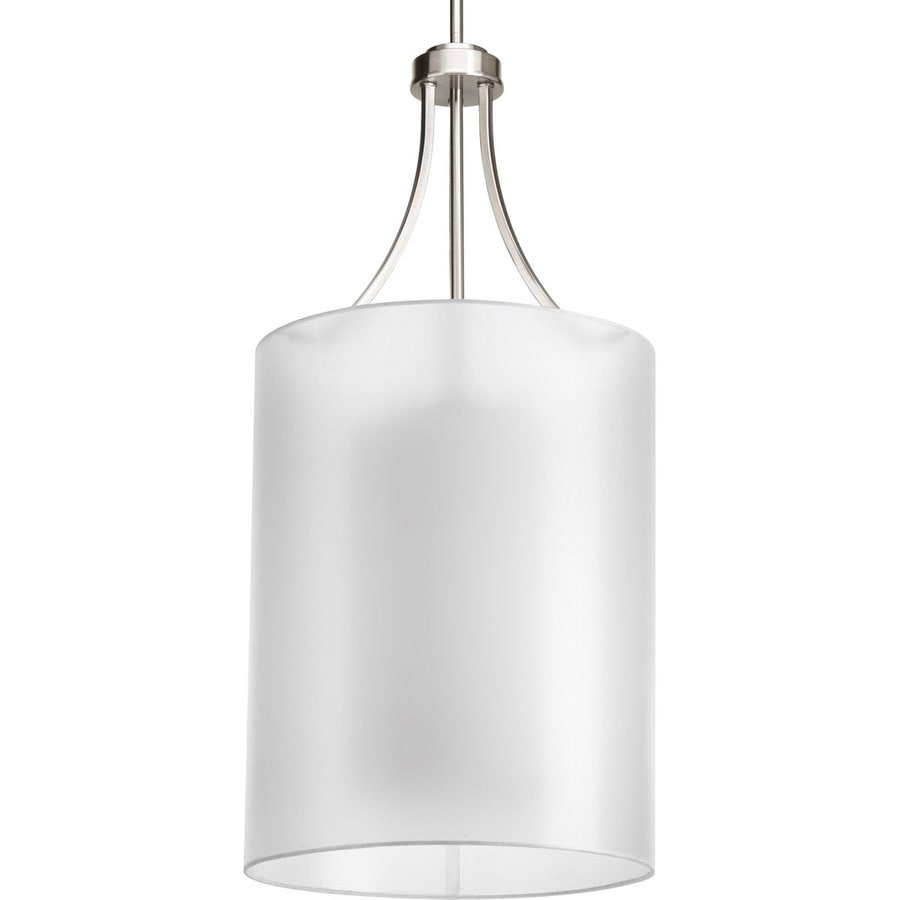 Progress Lighting Invite 14-in 1-Light Brushed Nickel Shaded Chandelier