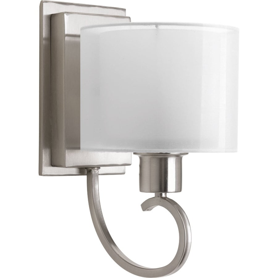 Shop Progress Lighting Invite 6 5 In W 1 Light Brushed Nickel Arm Wall Sconce
