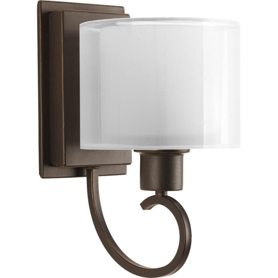 Progress Lighting Invite 6.5-in W 1-Light Antique Bronze Arm Wall Sconce