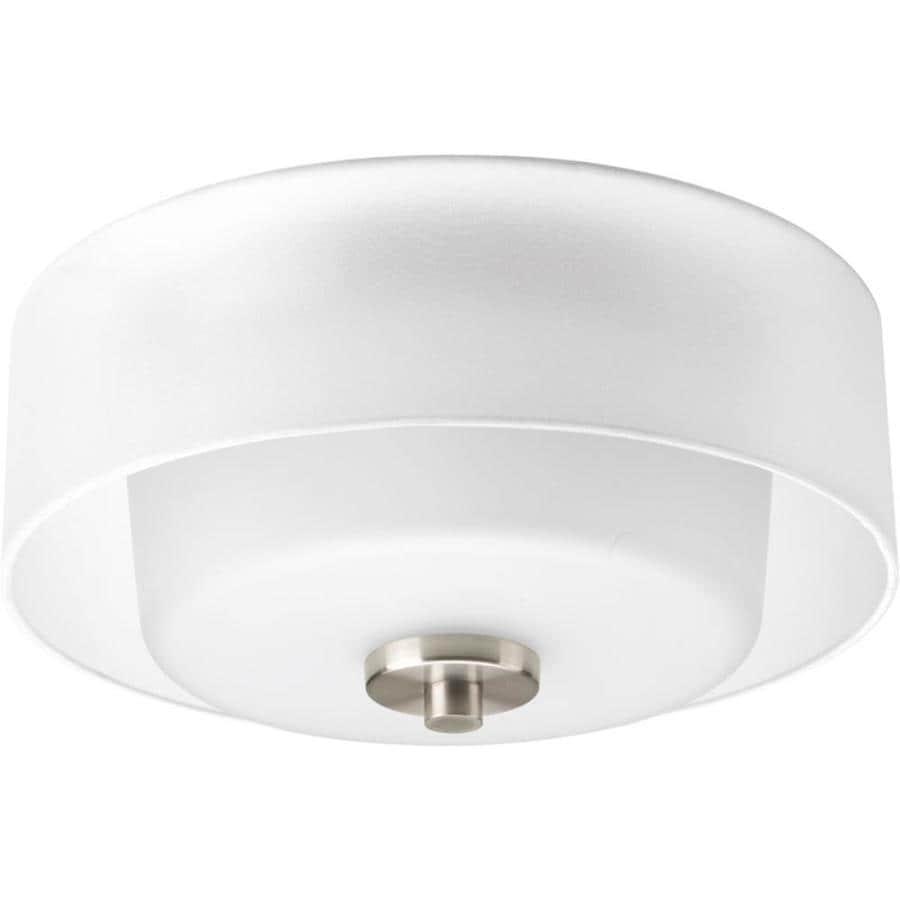 Progress Lighting Invite 12-in W Brushed Nickel  Standard Flush Mount Light