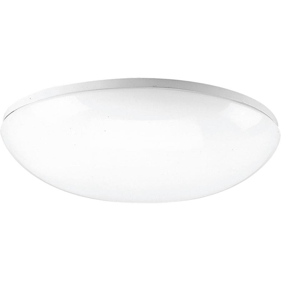 Progress Lighting Round Clouds 18-in W White Standard Flush Mount Light
