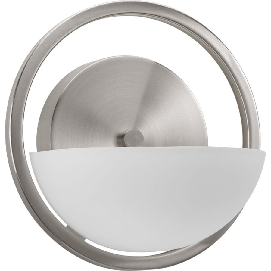Progress Lighting Engage 1-Light 7-in Brushed Nickel Geometric Vanity Light
