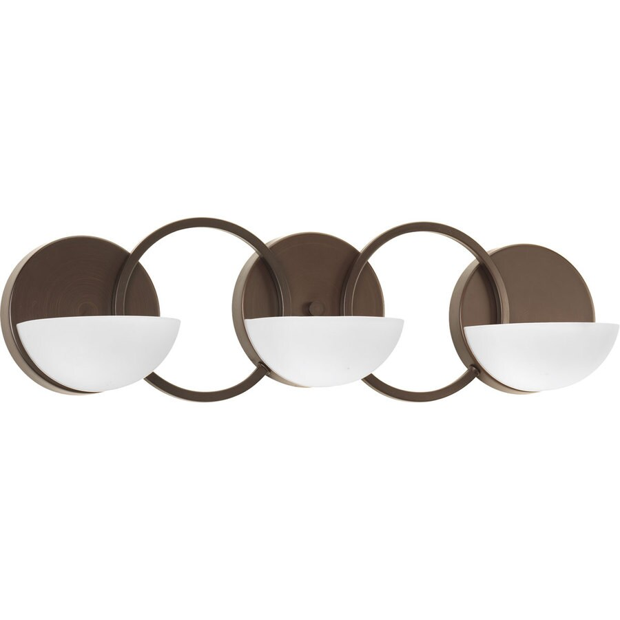 Progress Lighting Engage 3-Light 7-in Antique Bronze Geometric Vanity Light