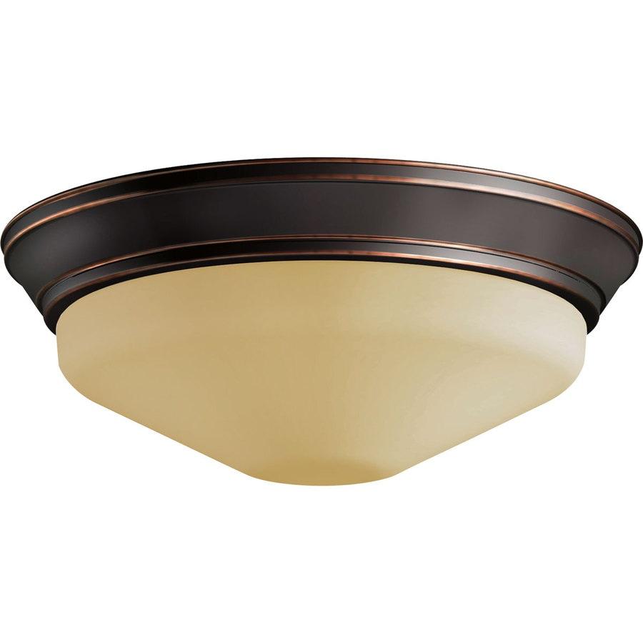 Progress Lighting 11-in W Antique bronze LED Flush Mount Light ENERGY STAR