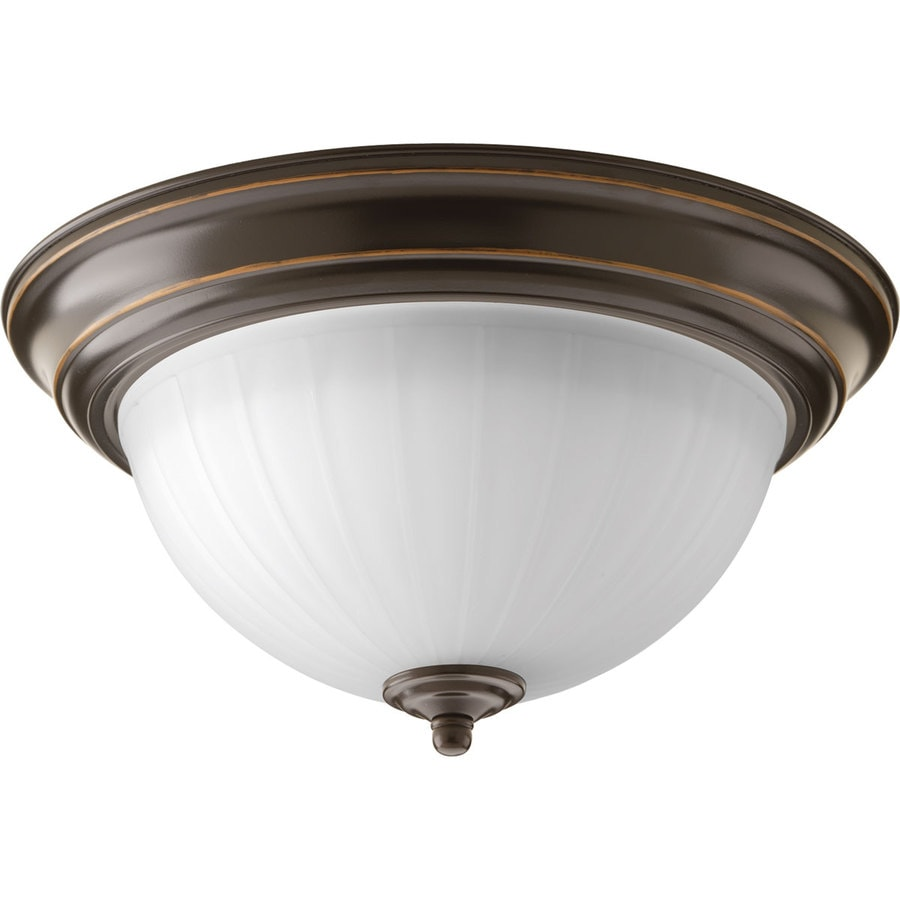 Progress Lighting Led 11.375-in W Antique Bronze LED Flush Mount Light