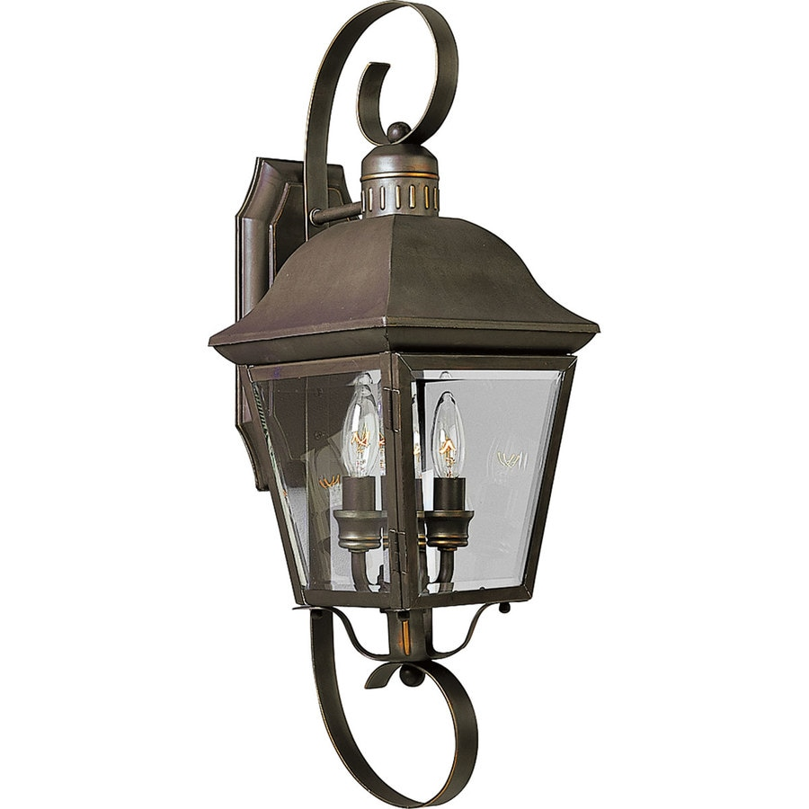 Vintage Outdoor Wall Lamps : Shop Progress Lighting Andover 21.25-in H Antique Bronze Outdoor Wall Light at Lowes.com