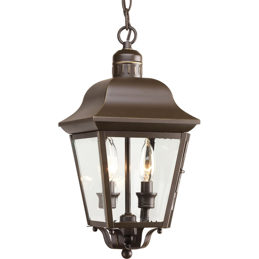 Porch Light Pendant: Shop Progress Lighting Andover 15.87-in Antique Bronze