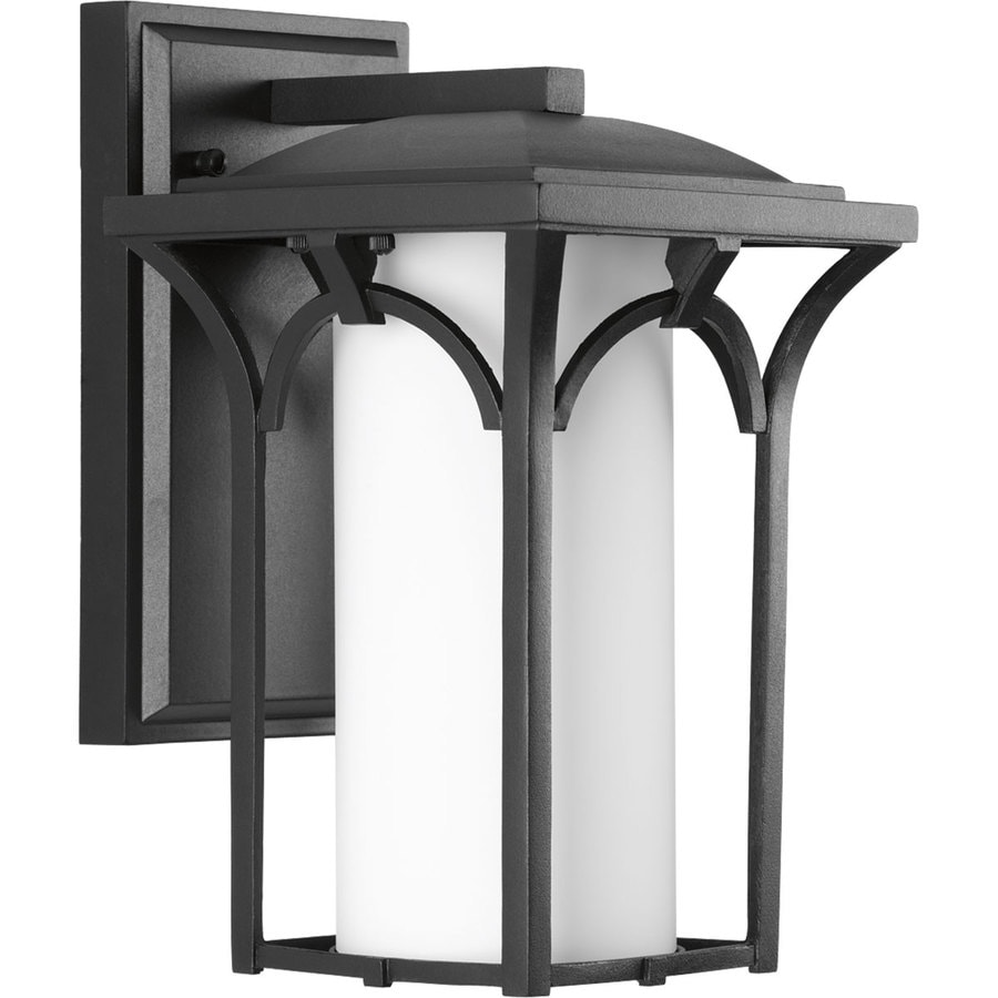 Progress Lighting Promenade 10.75-in H Black Outdoor Wall Light ENERGY STAR
