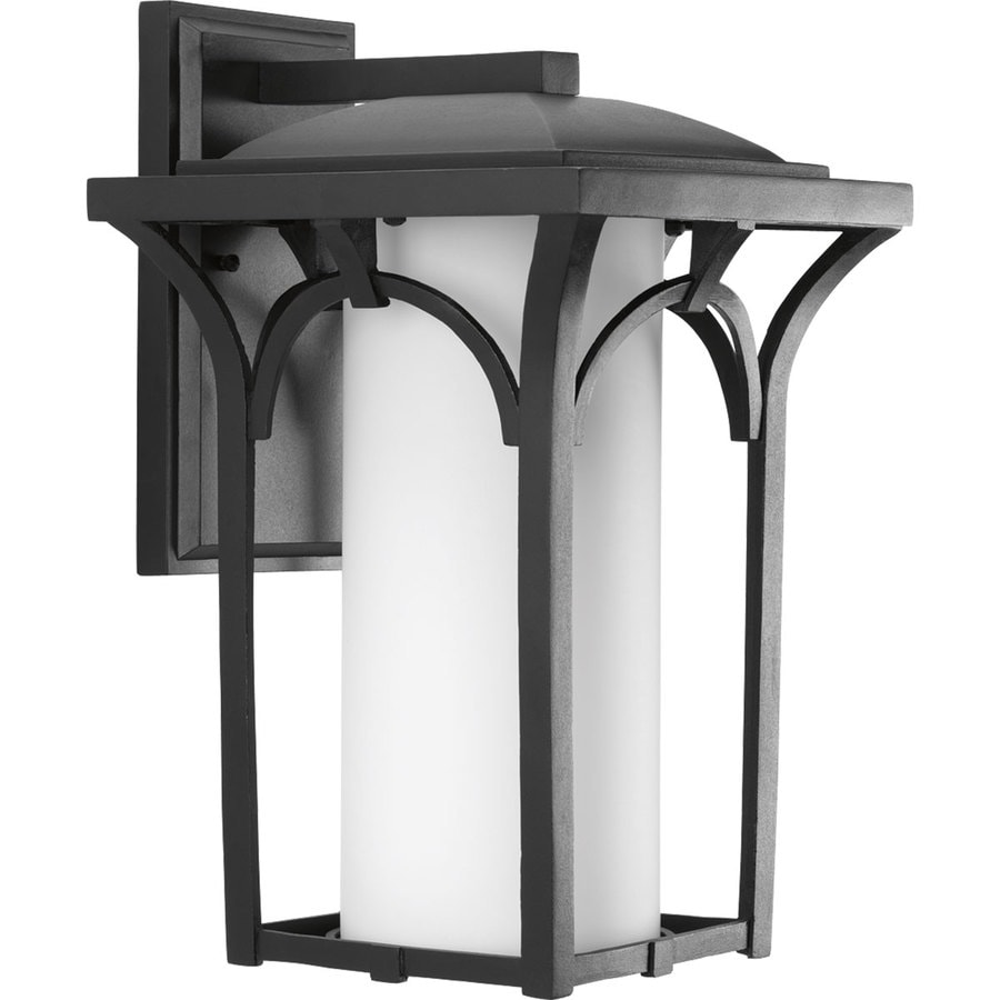 Progress Lighting Promenade 16.87-in H Black Outdoor Wall Light ENERGY STAR