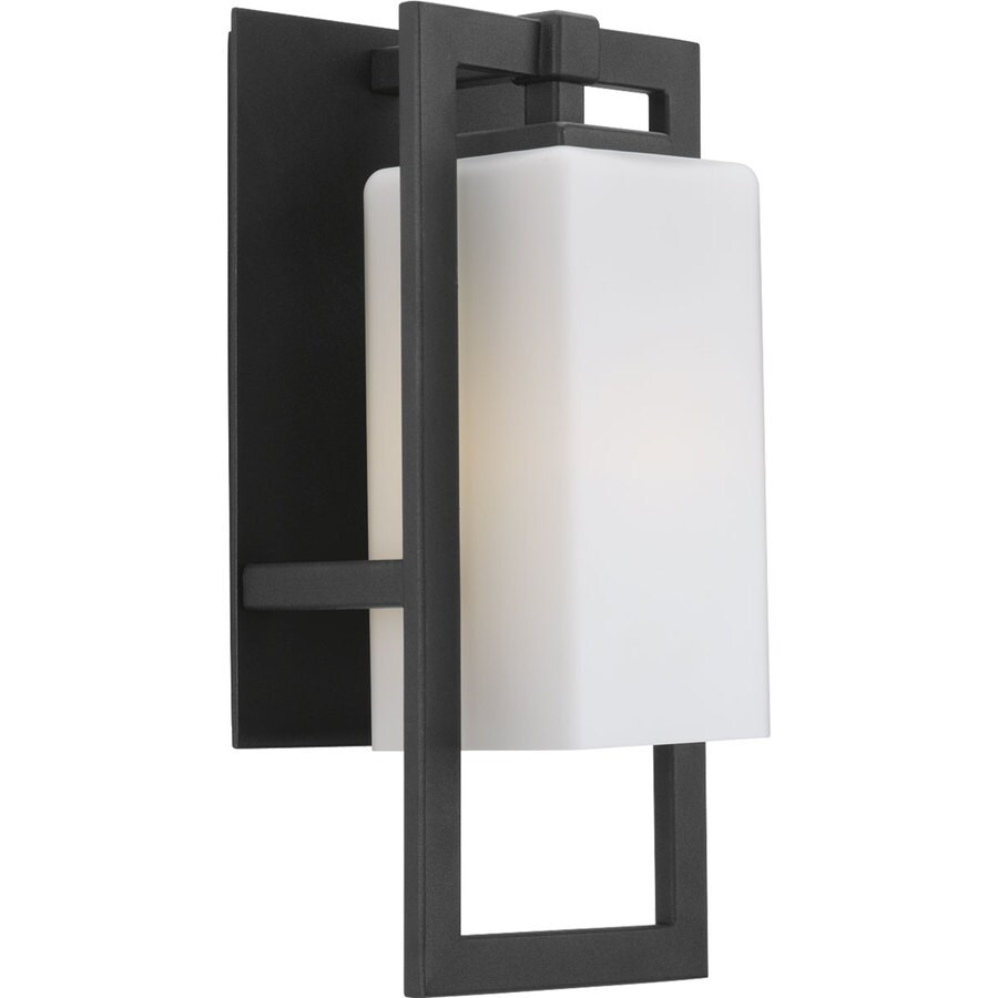 Progress Lighting Jack 13.62-in H Black Outdoor Wall Light ENERGY STAR