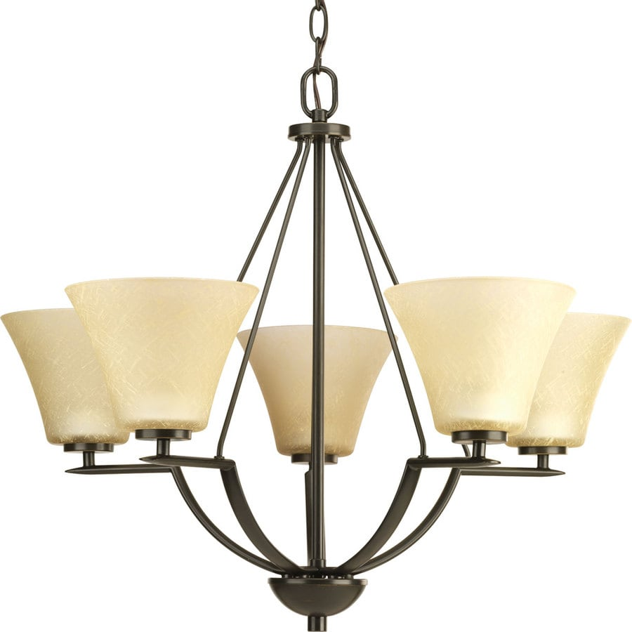 Shop progress lighting bravo 5 light antique bronze chandelier at progress lighting bravo 5 light antique bronze chandelier arubaitofo Images