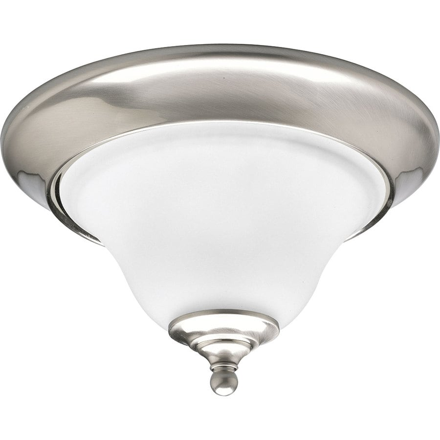 Progress Lighting Trinity 12.5-in W Brushed nickel Flush Mount Light
