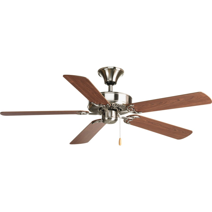 Progress Lighting AirPro 52-in Brushed nickel Indoor Downrod Or Close Mount Ceiling Fan ENERGY STAR