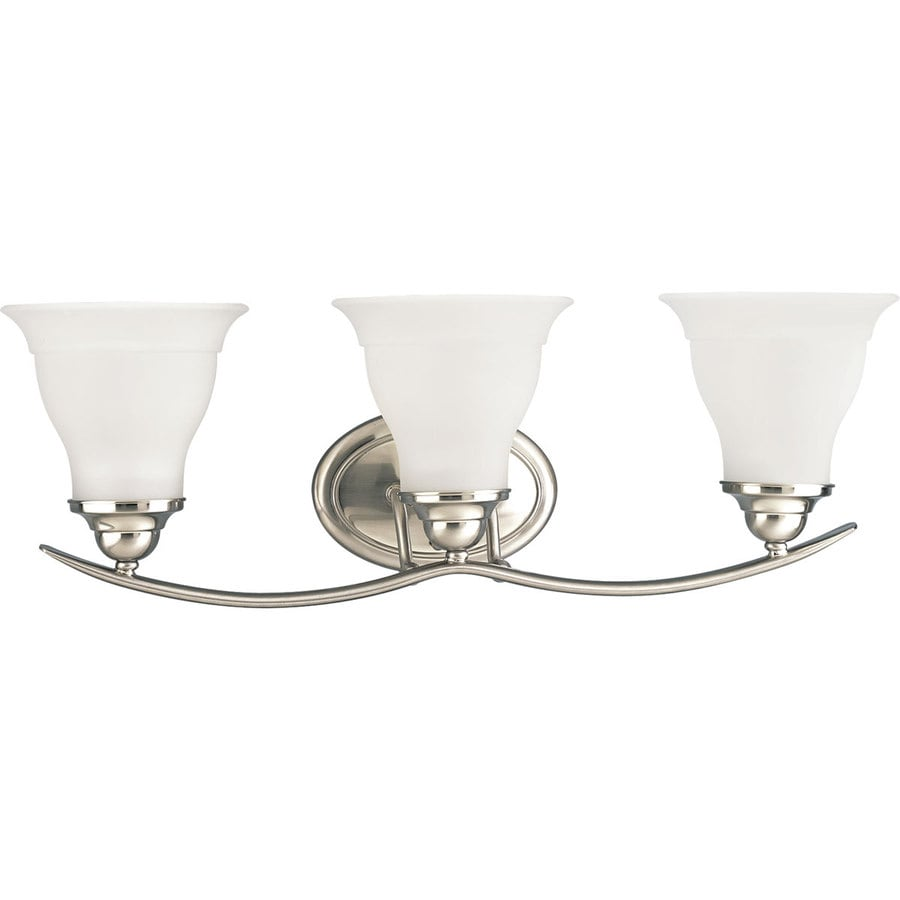 Progress lighting trinity 3 light 24 in brushed nickel - 8 light bathroom fixture brushed nickel ...