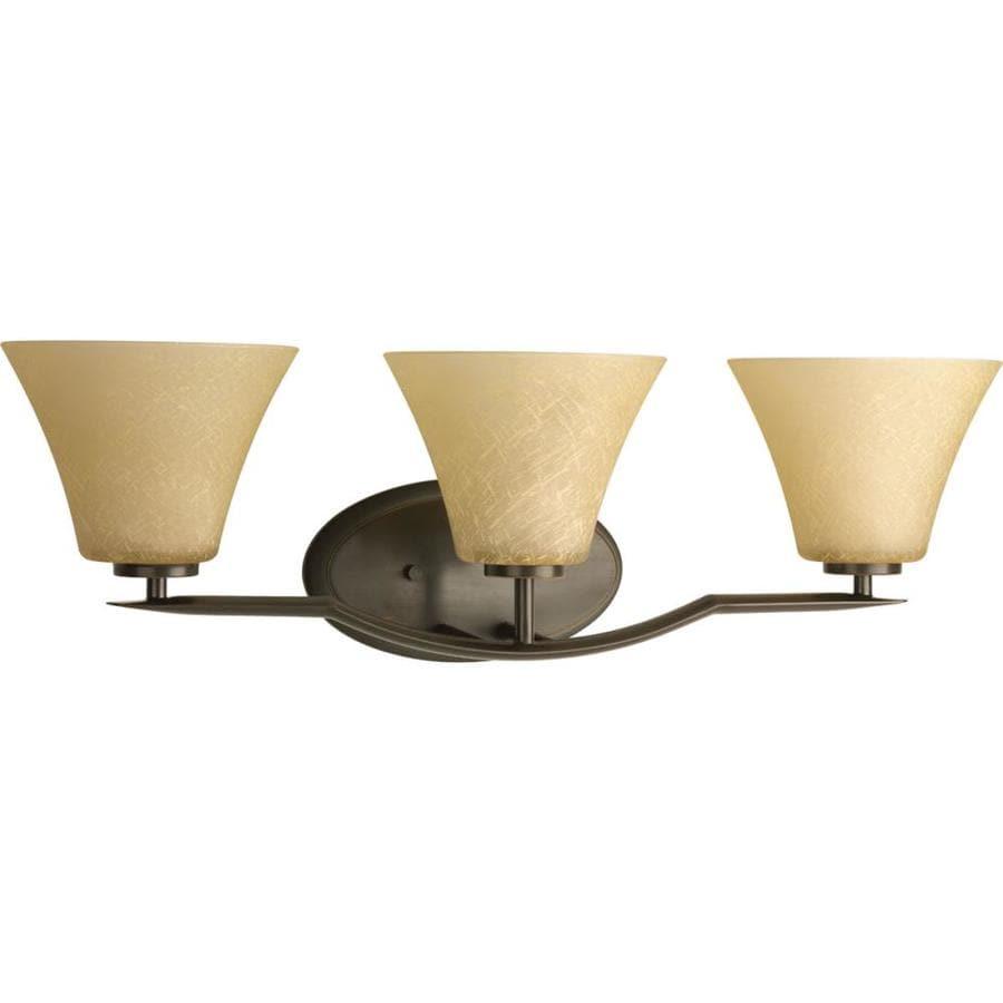 Progress Lighting Bravo 3-Light 8.75-in Antique bronze Bell Vanity Light