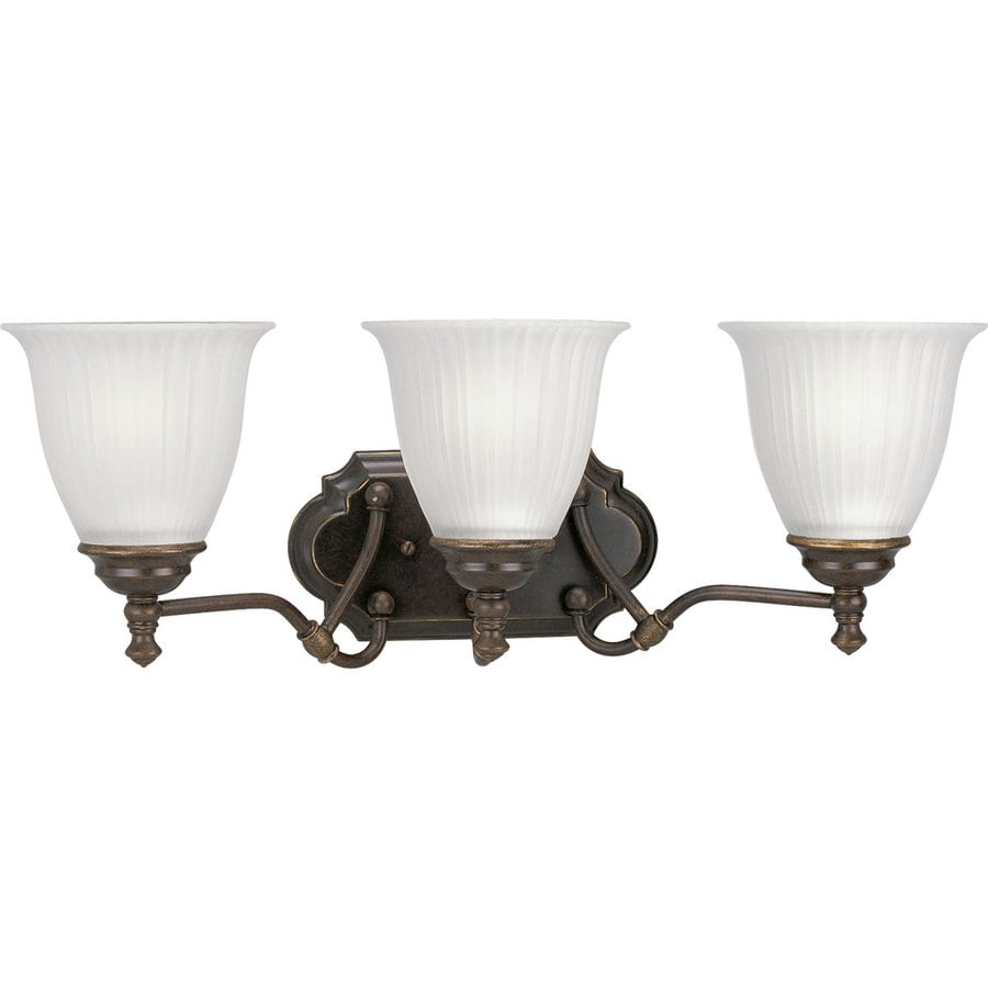 Progress Lighting Renovations 3-Light Forged Bronze Bell Vanity Light
