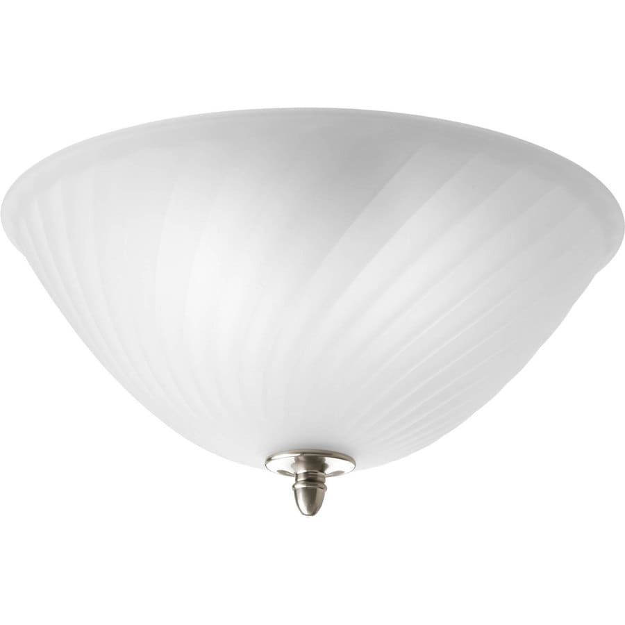 Progress Lighting Kensington 14-in W Brushed Nickel Flush Mount Light